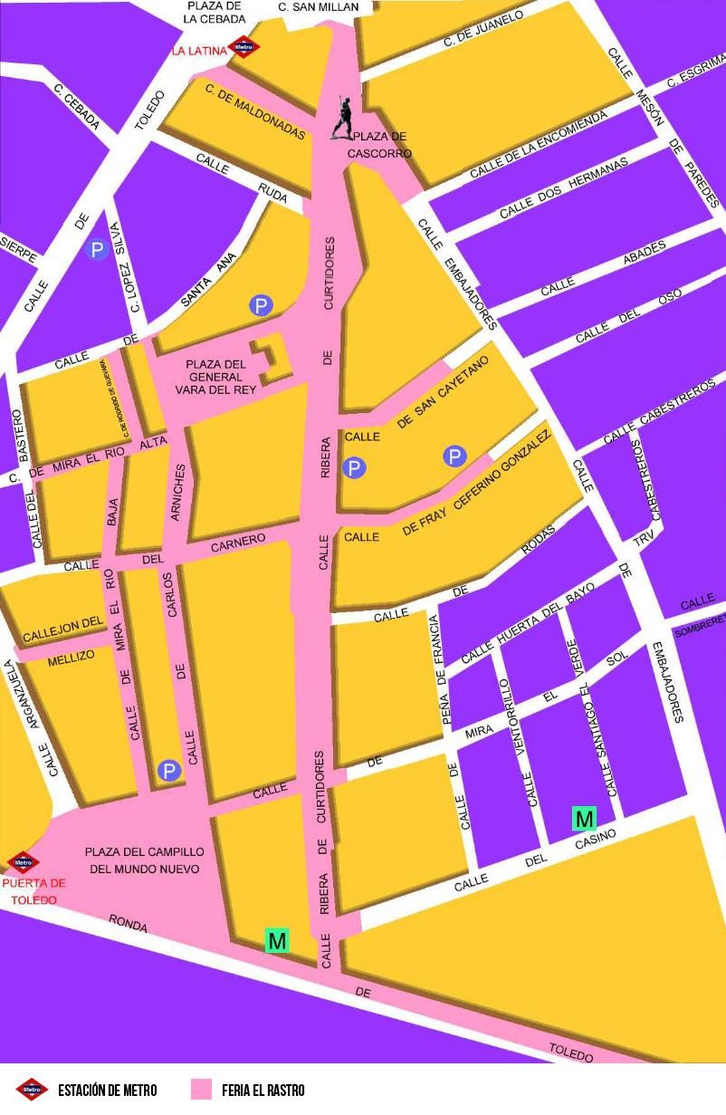 Mapa feria el rastro la latina madrid - El rastro del electrodomestico ...