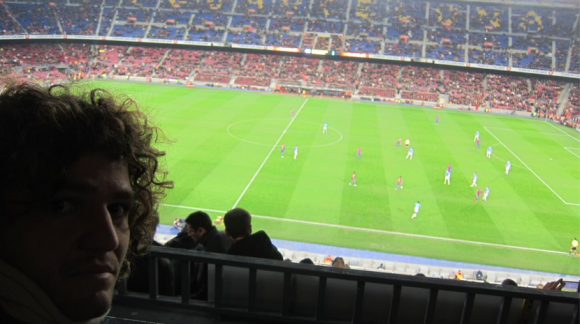 La magia del Camp Nou. Desde cualquier punto del Estadio se ve genial. (2011)