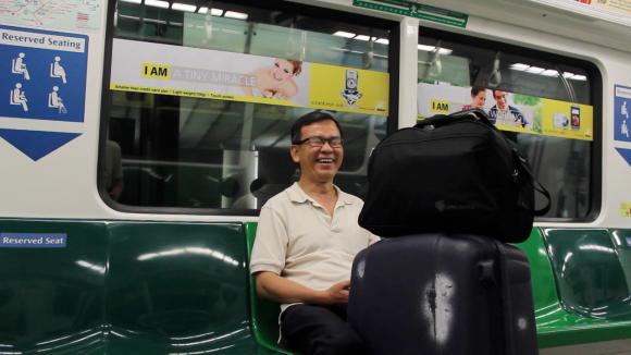 viajoscopio.com - Singapur - Tren desde Changui Airport hasta Bugis Station.