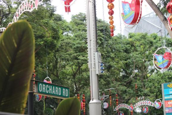 Orchad Road, la calle de los shoppings.