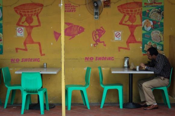 Patios de comida en Little India.