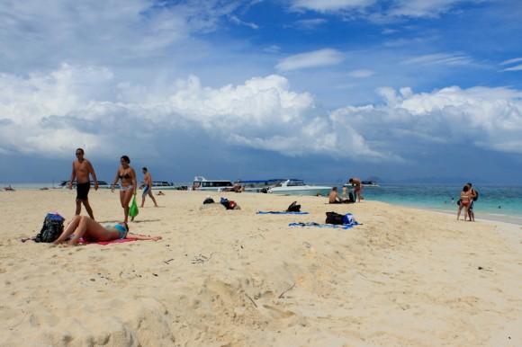 Las arenas blancas de Bamboo Island. Un pequeño paraíso, sin basura.
