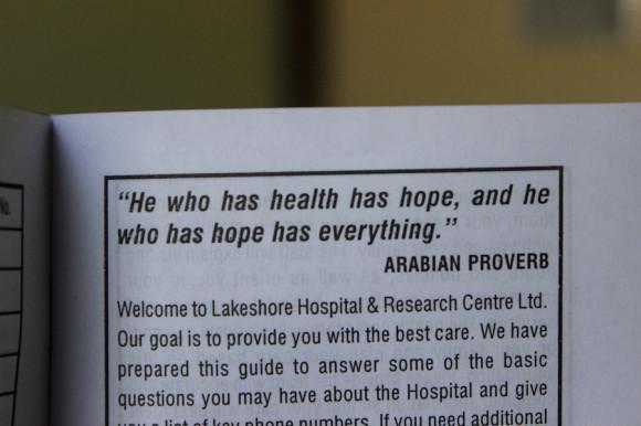 E intentaré seguir el proverbio árabe...