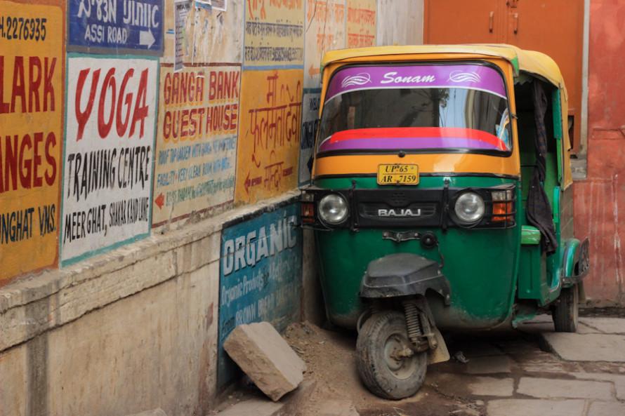 Hasta los rickshaw parecen necesitar un descanso.