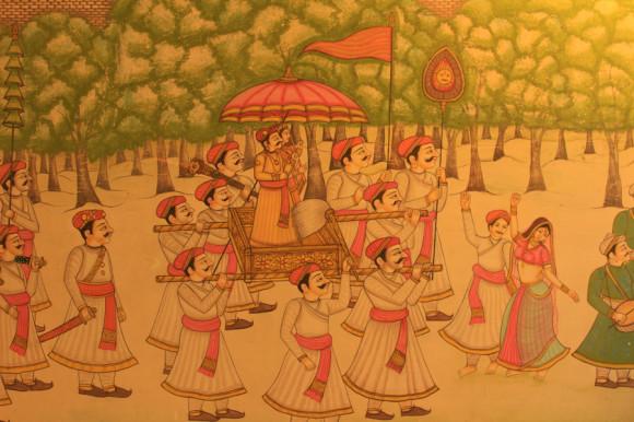 Un poco de la historia Rajput de Bijaipur dentro de las habitaciones.