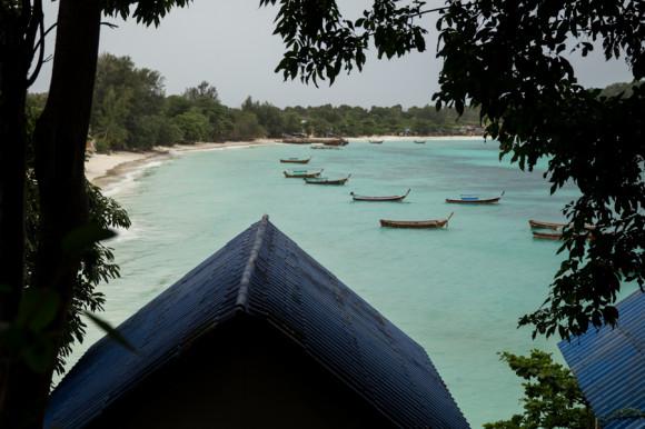 Pattaya desde la montaña, camino a la última playa de este lado de la isla.
