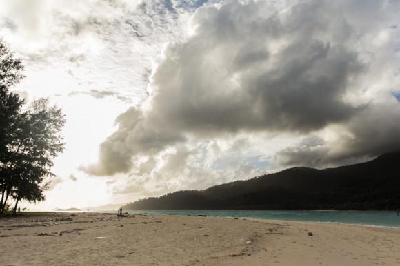 Y la misma playa pero mirando hacia el norte.