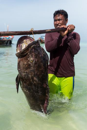 Pescan para sobrevivir en el día a día.