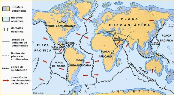 La distribución mundial de las placas tectónicas y la zona crítica sobre la que se encuentra Sumatra.