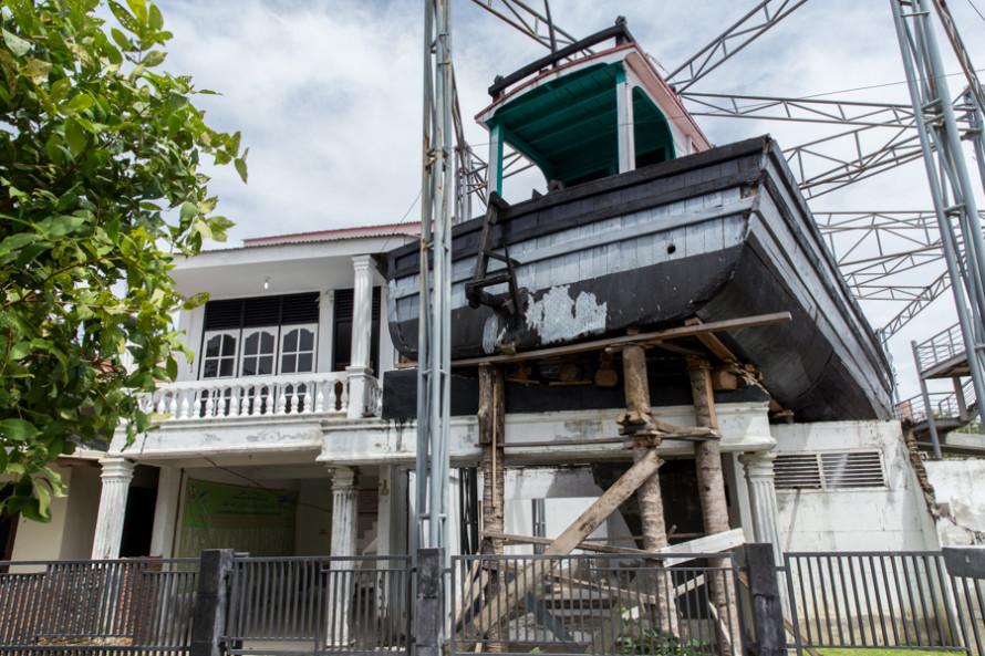 Todos estos hitos del tsunami hoy se mantienen intactos para recordar la tragedia.