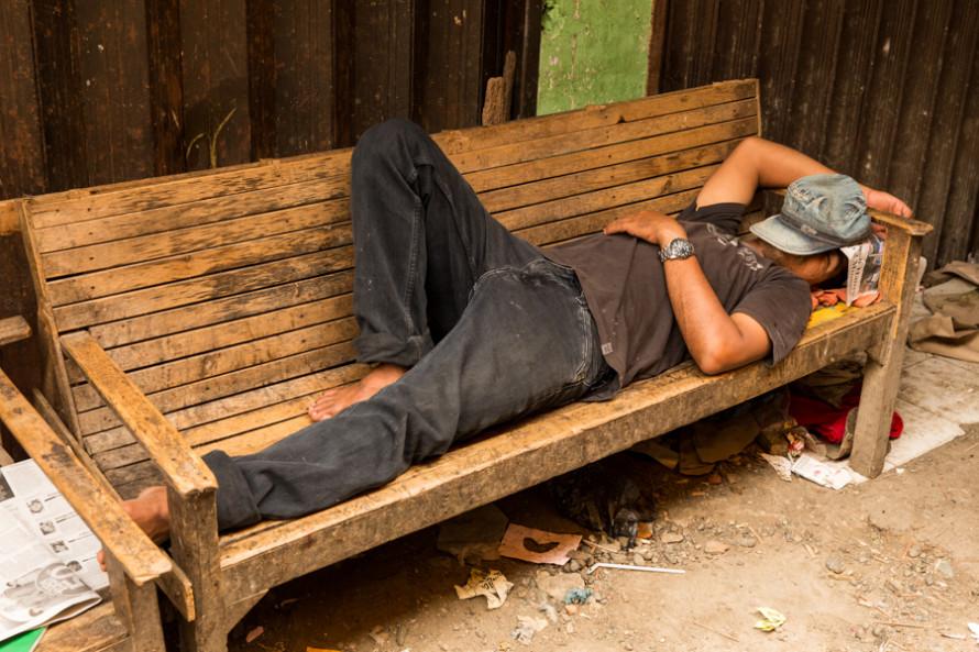 Descanso callejero...