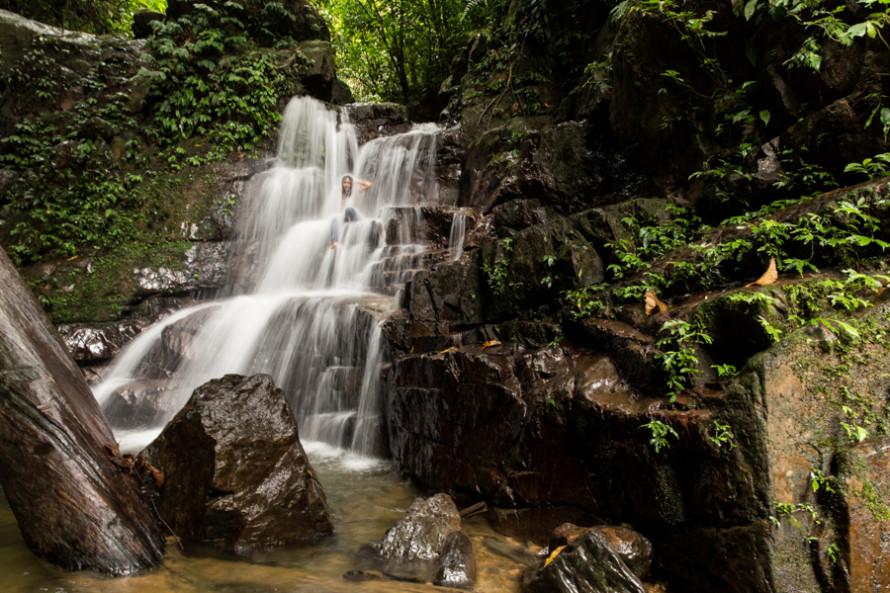 También hay cascadas como ésta.