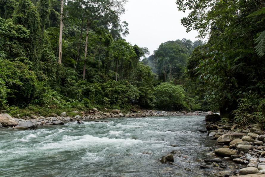 El parque está atravesado por el Bahoroc, un río de agua cristalina.