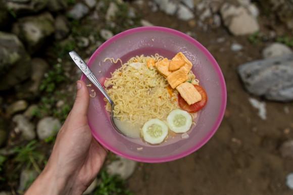 Noodle soup, el almuerzo del segundo día.