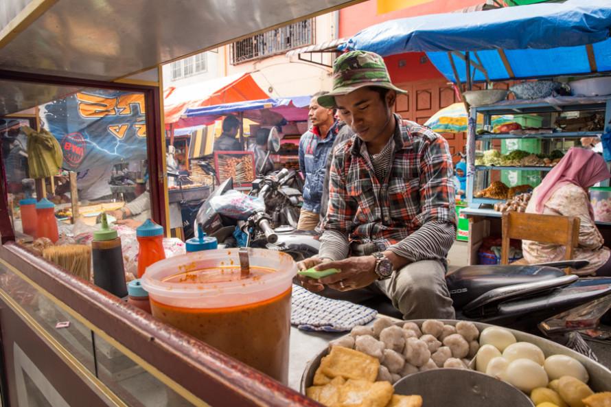 ...mercados callejeros...