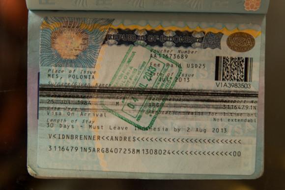 Mi visa on arrival.